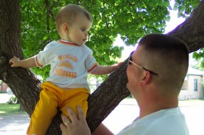 Abbye, Daddy at the Park